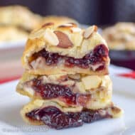 Cherry Almond Brie Bites