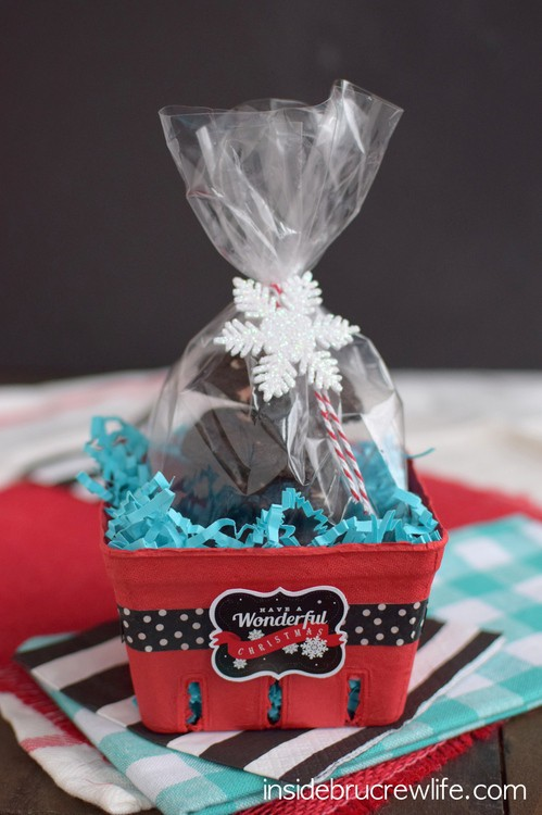 Chocolate Peppermint Crunch Cookies gift package