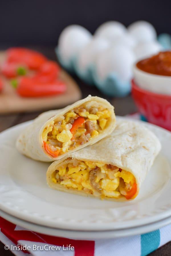 Breakfast Wraps With Eggs Recipe