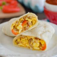 Loaded Egg Burritos