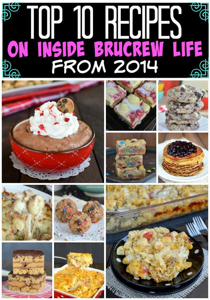 The Top 10 recipes from Inside BruCrew Life from 2014. Dinner and dessert recipes made the list!