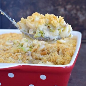 Bacon Broccoli Macaroni and Cheese title 2
