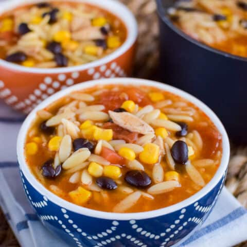 Simple Chicken Enchilada Soup