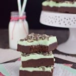 Chocolate Mint Sugar Cookie Bars