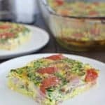 Ham and Tomato Egg Bake