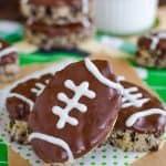 Mint Cookies and Cream Football Rice Krispie Treats