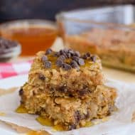 Peanut Butter Chocolate Chip Baked Oatmeal Recipe
