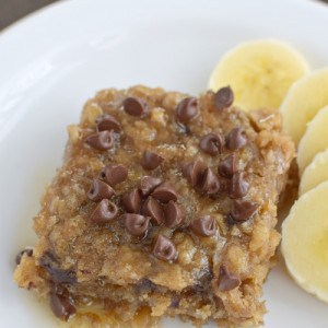 Peanut Butter Chocolate Chip Baked Oatmeal title 2