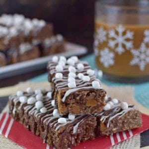 Salted Caramel Hot Chocolate Granola Bars title