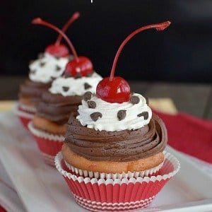 Cherry Chocolate Chip Cupcakes title 1