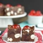 Chocolate Cherry Marshmallow Fudge
