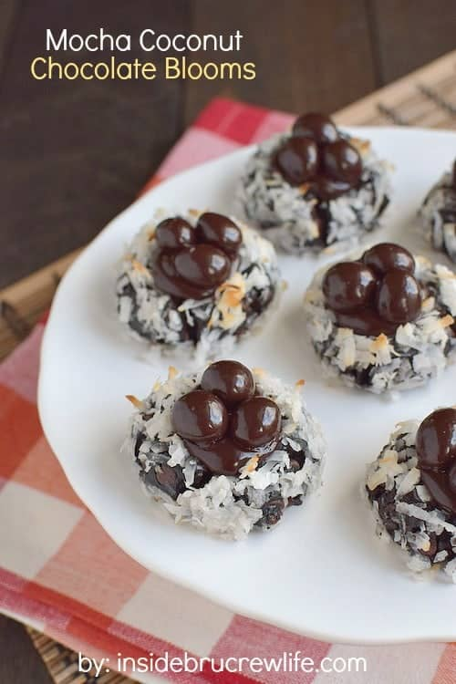 These easy chocolate cookies are rolled in coconut and filled with a soft chocolate center. Perfect for the chocolate lovers in your life!