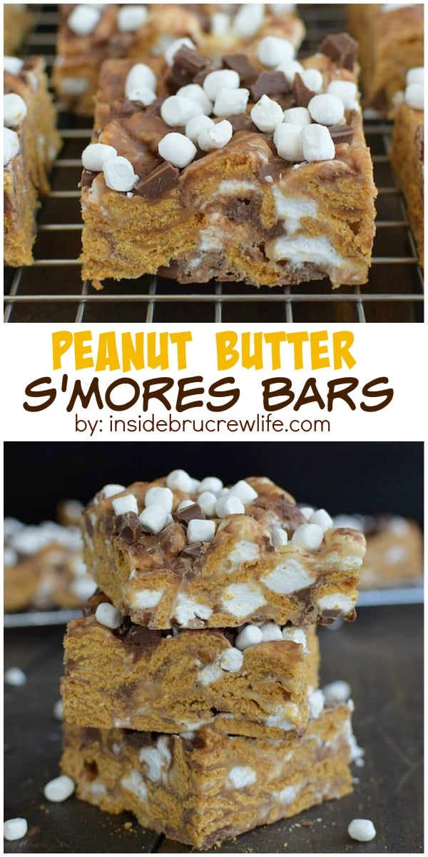 These easy no-bake s'mores bars are a perfect treat to enjoy year round. Chocolate and marshmallows inside and on top will have you grabbing another bar. #BecomeABetterBaker