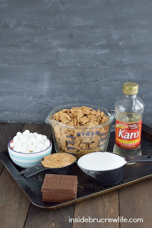 Peanut Butter S'mores Bars ingredients