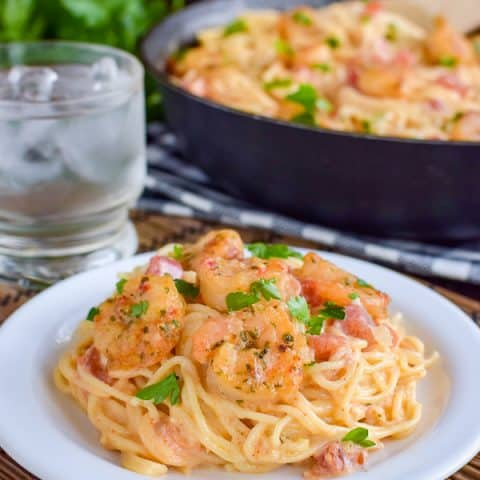 Easy Spicy Parmesan Shrimp Scampi