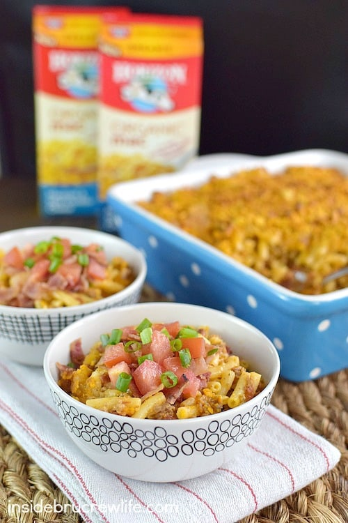 Adding a few extras like bacon and ranch makes this cheeseburger mac and cheese a huge hit at the dinner table.