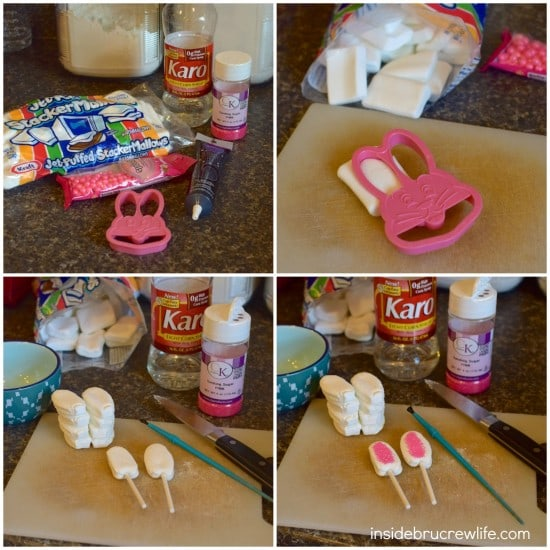 How to make Easter bunny ears for Chocolate Coconut Bunny Cupcakes