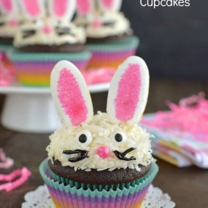 Chocolate Coconut Bunny Cupcakes title 1