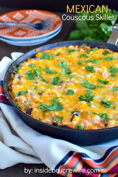 This easy skillet dinner can be made in less than 30 minutes.  Perfect for those busy nights when you still want to do dinner as a family.  #choppedathome #contest #realcheesepeople #ad