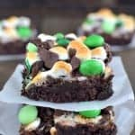 Mint S'mores Brownies