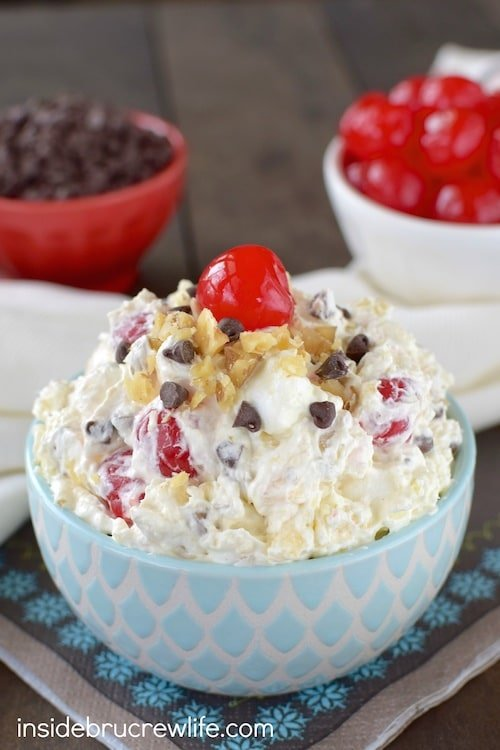 Banana Split Fluff Salad 5