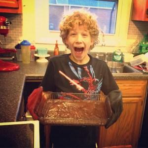 Making brownies
