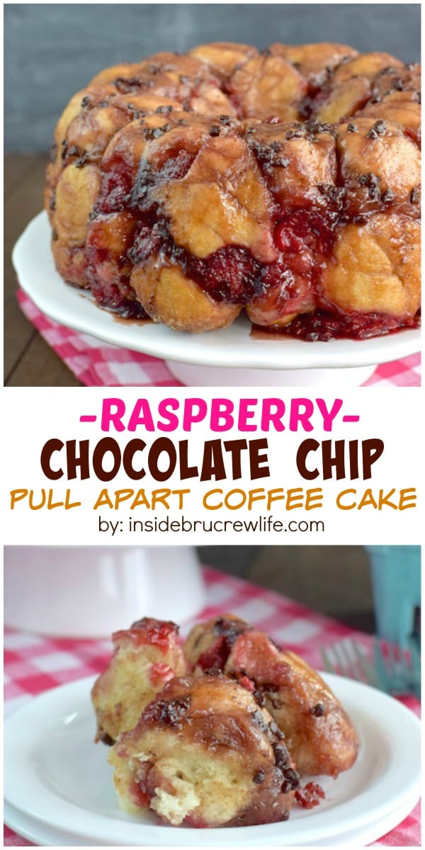 Chocolate chips and fresh raspberries make this easy coffee cake a delicious breakfast or brunch choice. #becomeabetterbaker