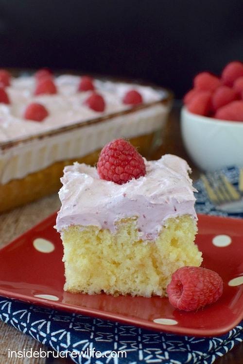 Raspberry Hazelnut Poke Cake 11