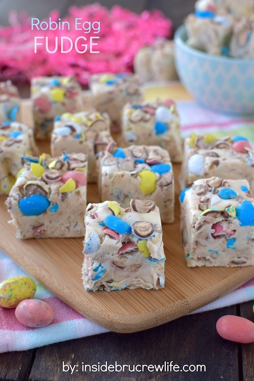 This Robin Egg Fudge has a great vanilla malt flavor and is packed full of Easter candy.