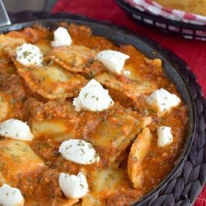 Skillet Lasagna Ravioli 4