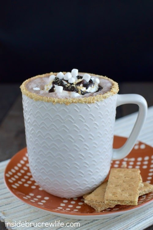 This fun coffee drink has all the flavor of a s'mores without all the work. Perfect drink to relax with this afternoon.