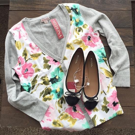 Target cardigan & shoes