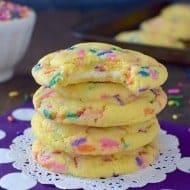 White Chocolate Lemon Funfetti Cookies