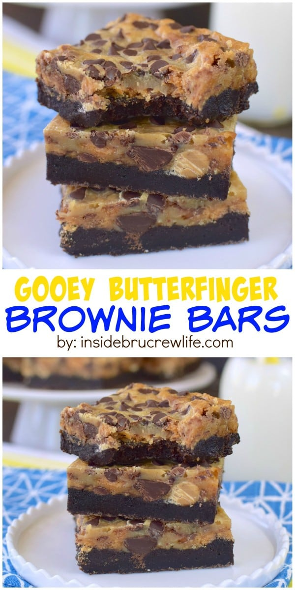 Candy bars and chocolate make these gooey brownie bars a sure hit for ...