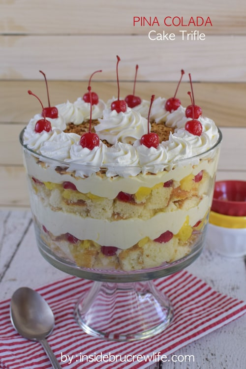 Layers of cake, fruit, and no bake cheesecake makes this a must make dessert for summer parties and picnics.