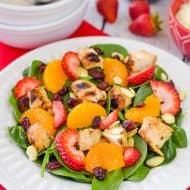 Strawberry Orange Spinach Salad