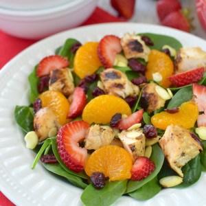 Strawberry Orange Spinach Salad with Chicken 12