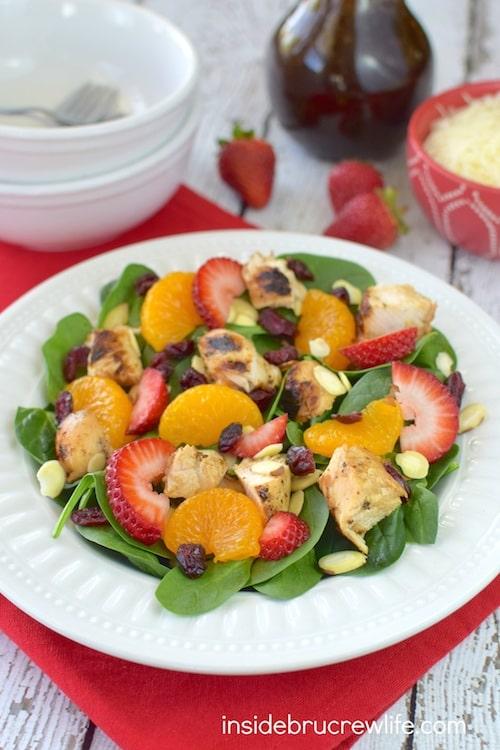 Strawberry Orange Spinach Salad