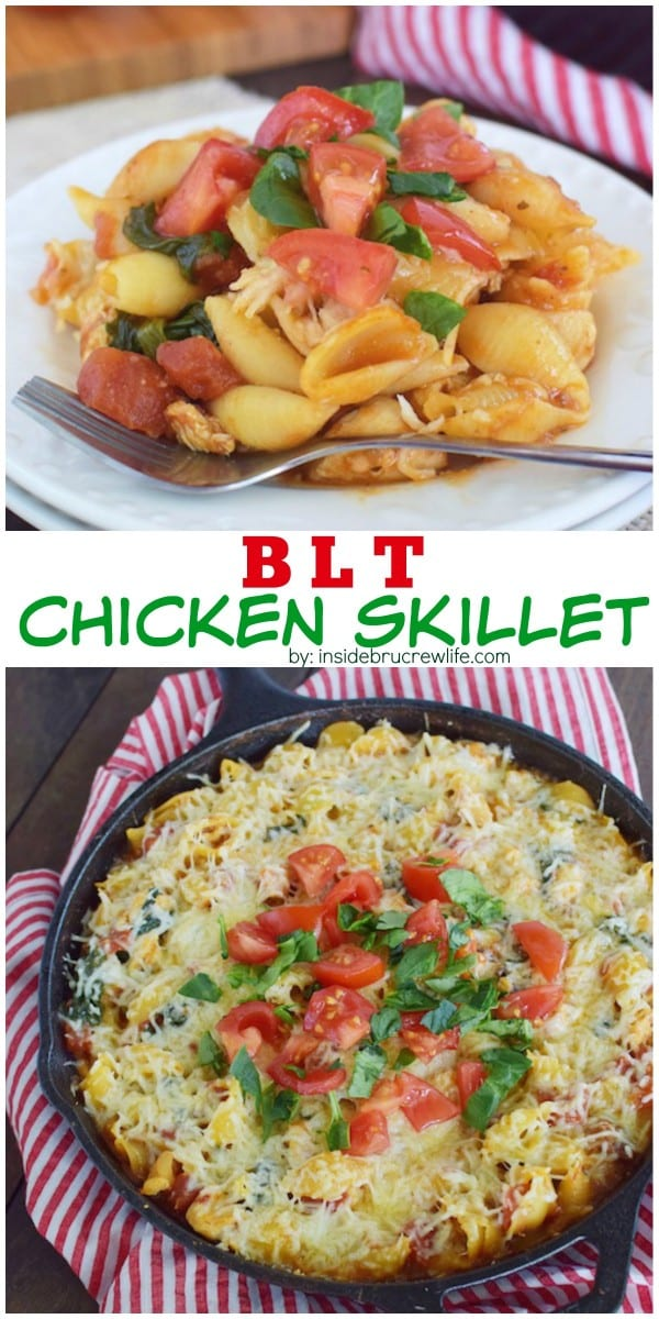 This easy chicken skillet dinner has all the flavor of a BLT sandwich and can be made in less than 30 minutes.