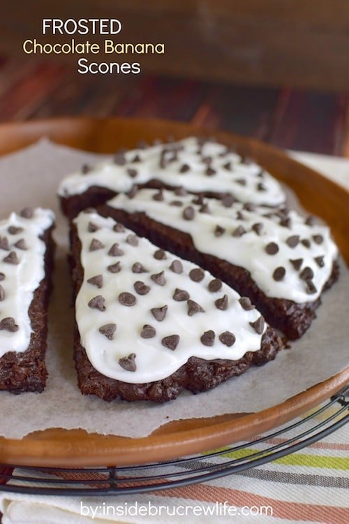 Frosted Chocolate Banana Scones