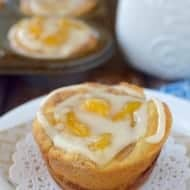 Peach Cinnamon Roll Cups