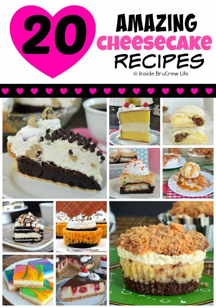 20 of the most amazing cheesecake recipes that we have made over the years.  You will love every single one!