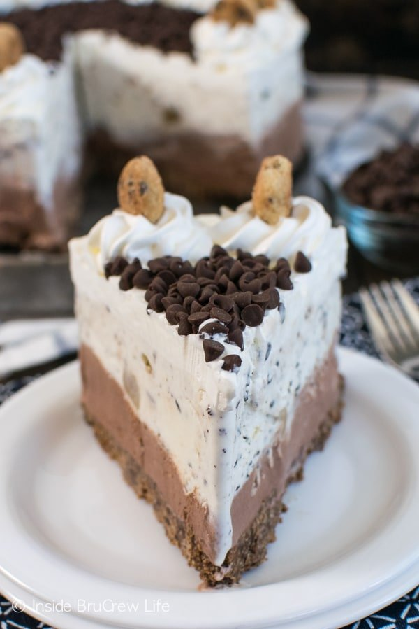 Chocolate Chips And Cookies On Top Add A Fun Twist To This Easy Ice Cream Cake
