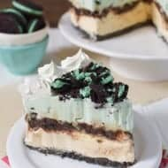 Vanilla Mint Chip Ice Cream Cake