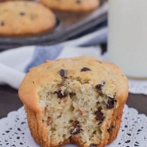 Chocolate Chip Banana Muffins 3-1