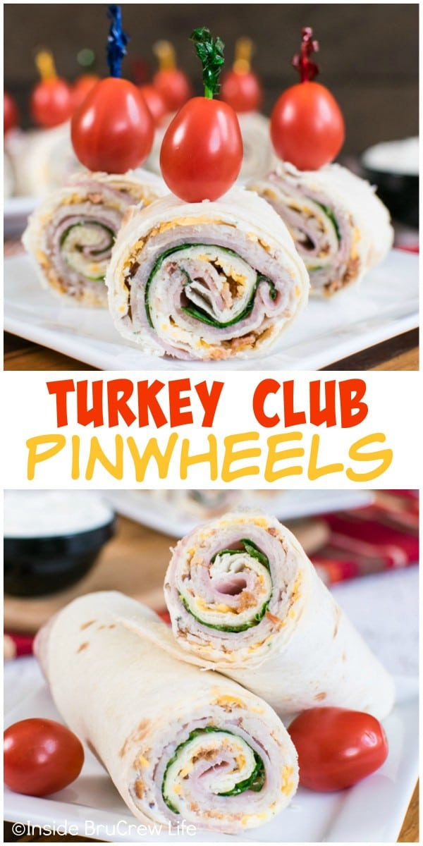 Layering meat and cheese with a cheese dip makes a delicious roll up or pinwheel. Perfect for lunch or after school snacks!