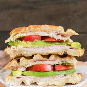 Turkey Club Waffle Sandwich 22-1