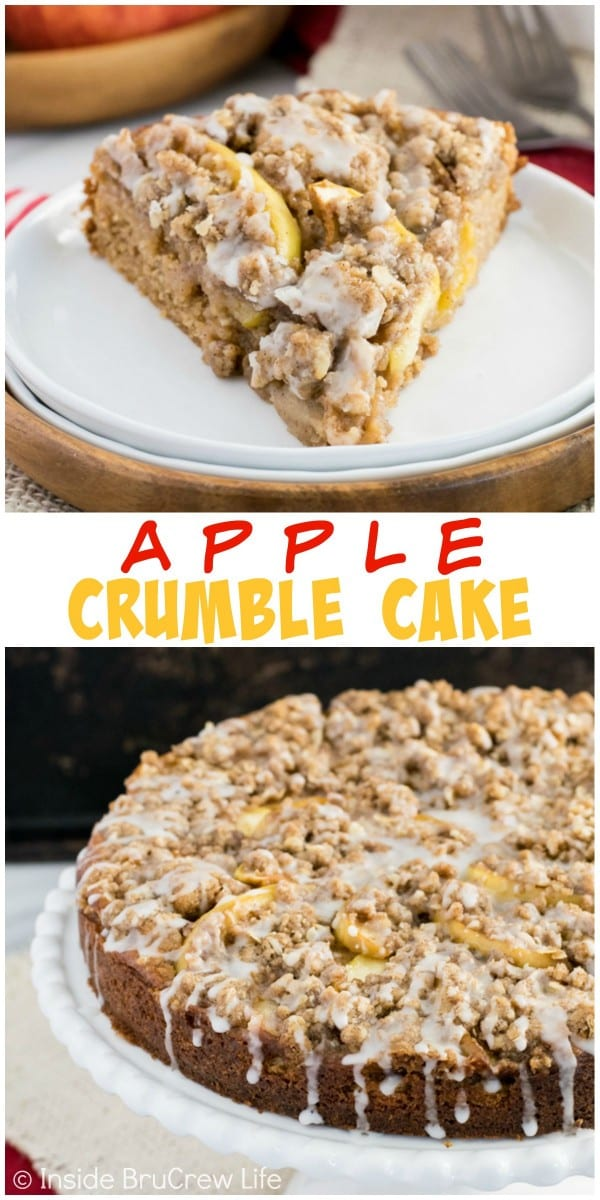 Apples and crumble add a fun flair to this fresh apple cake. It's the perfect fall treat!