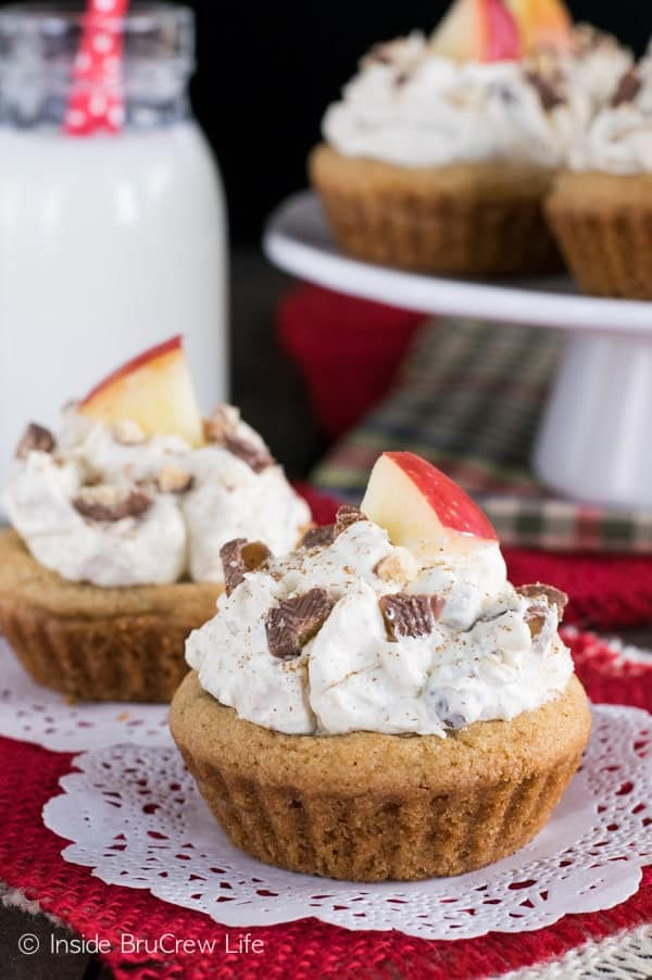 Candy Apple Cookie Cups