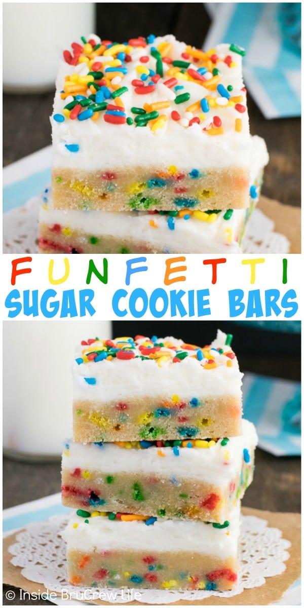 Funfetti Oreo Cake Bars